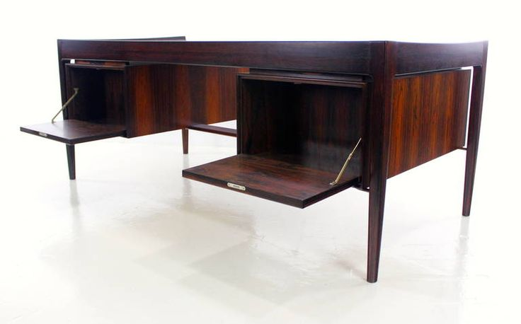Impressive Danish Modern Rosewood Executive Desk | From a unique collection of antique and modern desks at https://www.1stdibs.com/furniture/storage-case-pieces/desks/