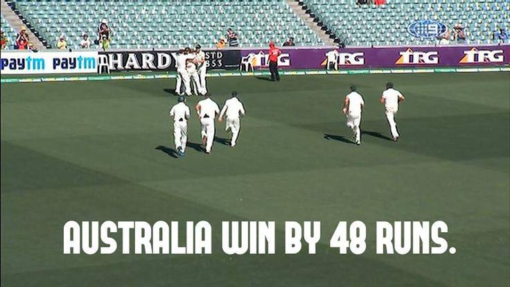 UH: Australia won first test match against India