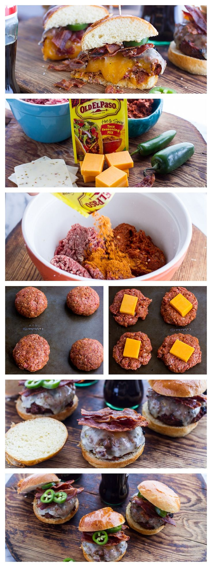 Mexican Juicy Lucy Burgers  A Minnesota classic with a south of the border twist!!!
