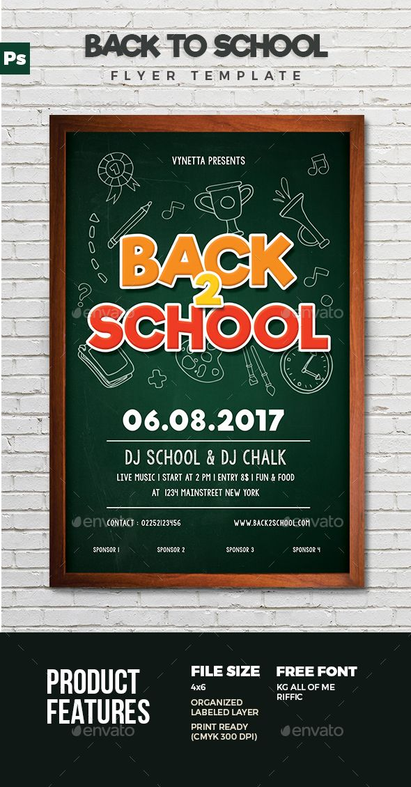 Back to school flyer #typography #invitation download: https.
