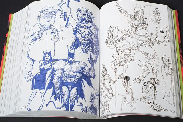 Kim Jung Gi is a Korean art instructor, cartoonist, and animator. This is the first of his three massive self-published sketchbooks that everyone has been talking about.       The work covers character design through comic panels and nude studies, some of the sketches are painted most are linework in pencil or ink. is made up primarily of drawings and sketches.  There are also comic book pages (line art and painted), character designs, and illustrations.  www.kimjunggius.com