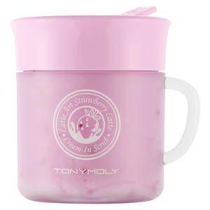 Latte Art Strawberry Cream-In Scrub - Crème exfoliante illuminatrice de teint - Tonymoly