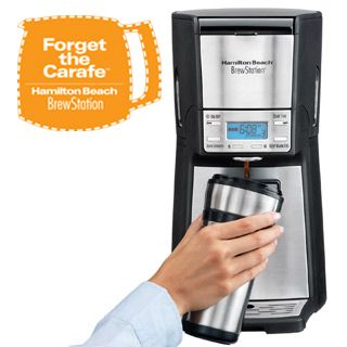 Christmas gift for the in-laws! BrewStation coffee makers from Hamilton Beach. See our selection of no carafe, BrewStation coffee makes. .
