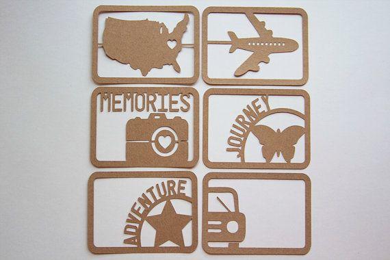 Set of 6 Kraft Project Life Travel Journal Cards via Etsy