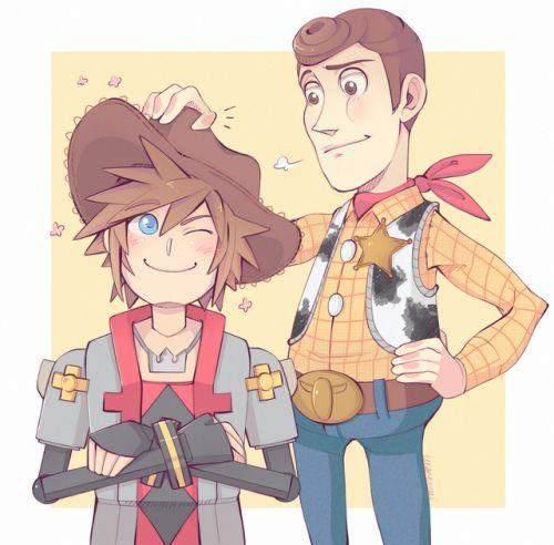 Kingdom Hearts - Sora and Woody