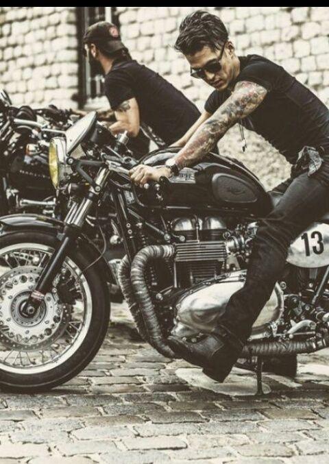 Image de tattoo, boy, and bike