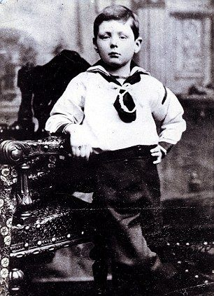 Sir Winston Churchill as a child in 1880 or 1881