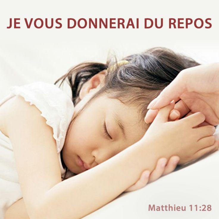La Bible - Versets illustrés - Matthieu 11:28 - Paroles de Jésus  En ce…