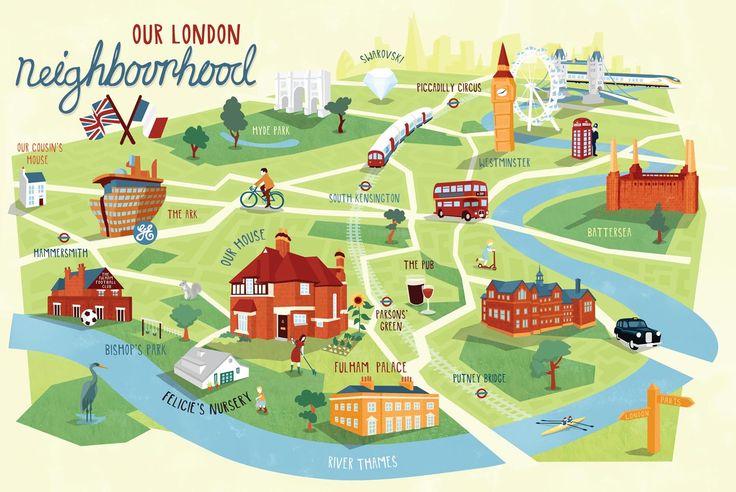 Personalised London map by kerryhyndman.co.uk