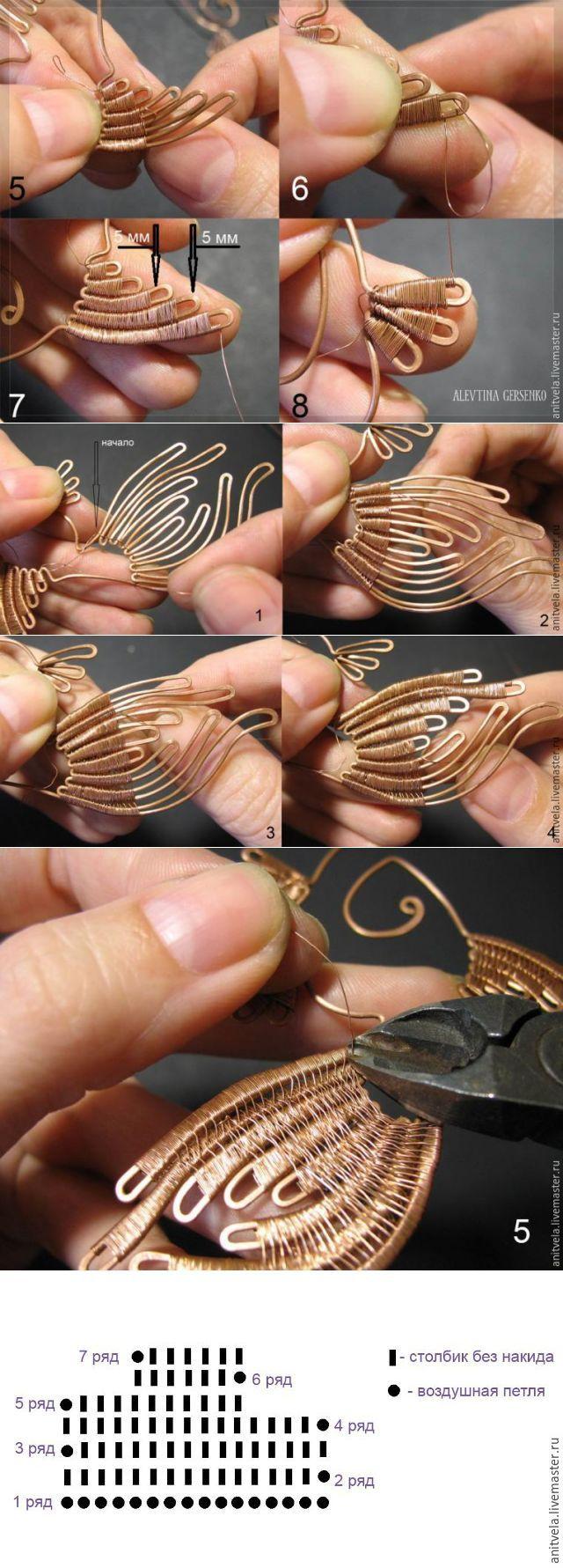 Мастер-класс: колье «Рыбы» в технике wire work - Ярмарка Мастеров - ручная работа, handmade