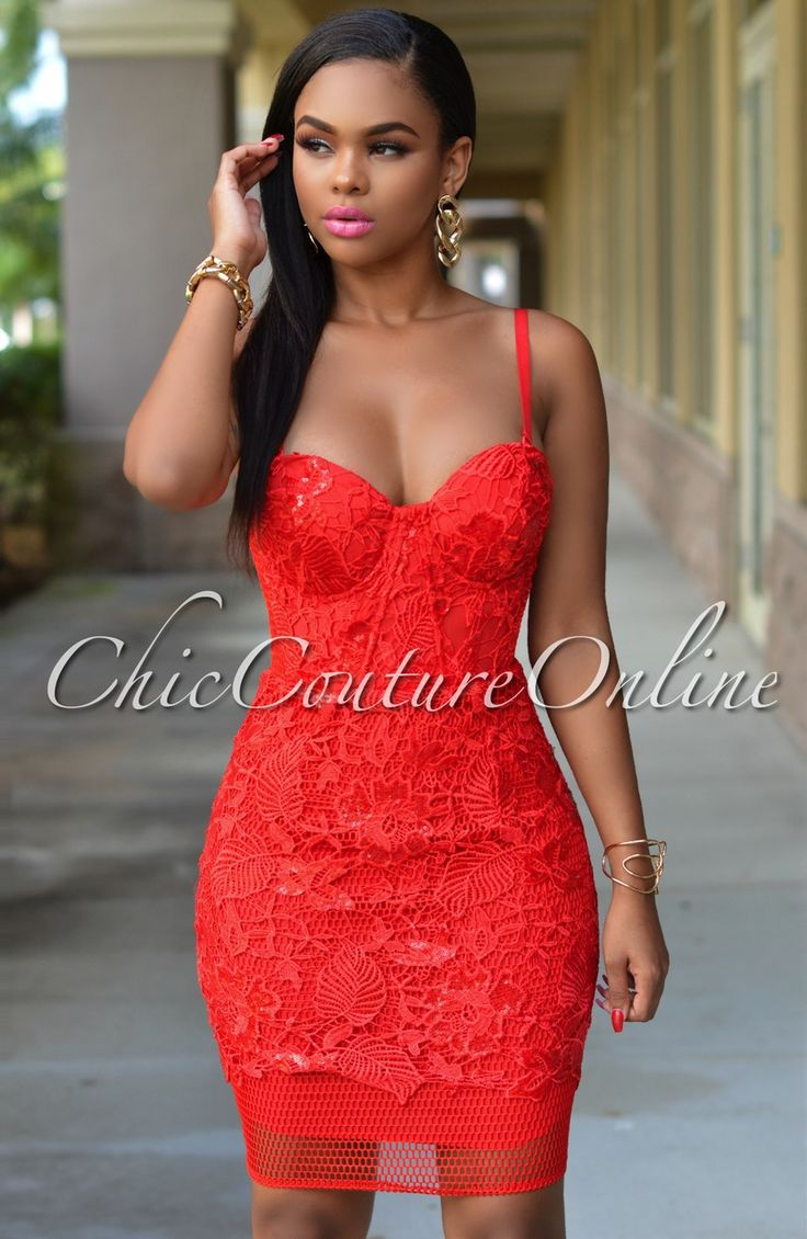Chic Couture Online - Gwen Red Lace Sequins Luxe Dress, $80.00 (http://www.chiccoutureonline.com/gwen-red-lace-sequins-luxe-dress/)