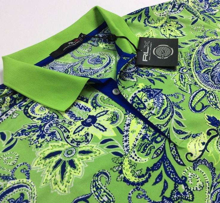 RLX Golf Ralph Lauren Men Lime Green Vintage Paisley Polyester Sport Polo Shirts | Clothing, Shoes & Accessories, Men's Clothing, Casual Shirts | eBay!