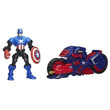 Marvel Super Hero Mashers Captain America Figure with The Capcycle Vehicle