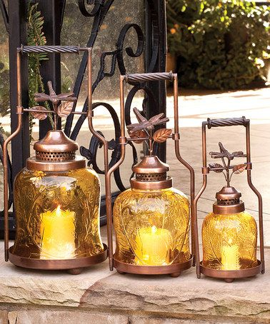 This Dragonfly Nested Lantern Set is perfect! #zulilyfinds