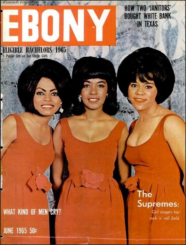 June 1965: The Supremes at the height of their career. | 15 Ebony Magazine Covers That Will Transport You To Simpler Times