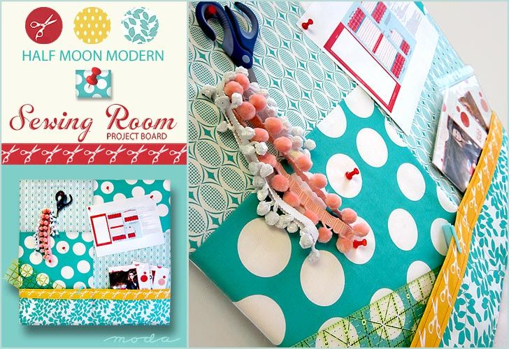 Project Pin Board: Sewing Projects, Girls Room, Sewing Rooms, Room Design, Half Moon, Moon Modern, Moda S Half, Modern Sewing