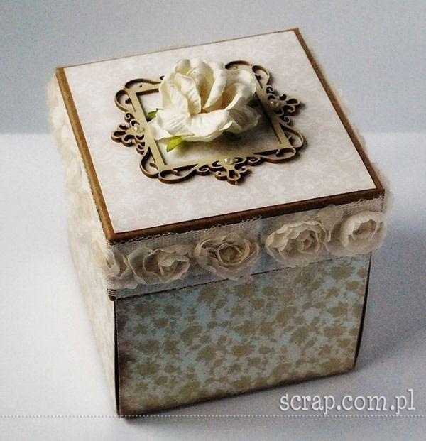 Exploding box na Chrzest Święty w kolorze kraft  http://www.hurt.scrap.com.pl/exploding-box-pudelko-latarnia-morska-kraft.html