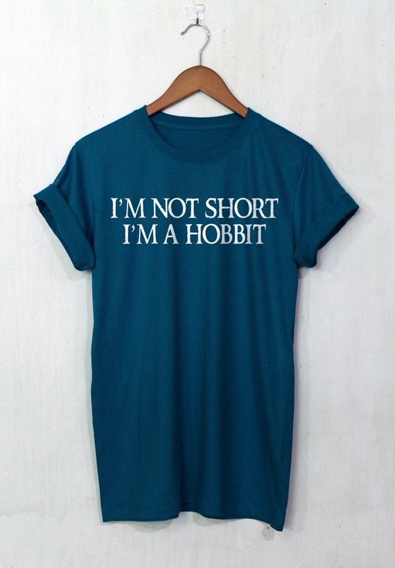 The Hobbit shirt Im not short Im a Hobbit t shirt LOTR tee unisex t-shirt size S to 2XL  SIZE TABLE:  S - Chest Width 36 Length 28 M - Chest Width