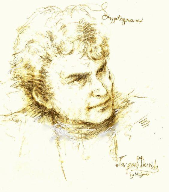 Jaques Derrida by Masami Fujii