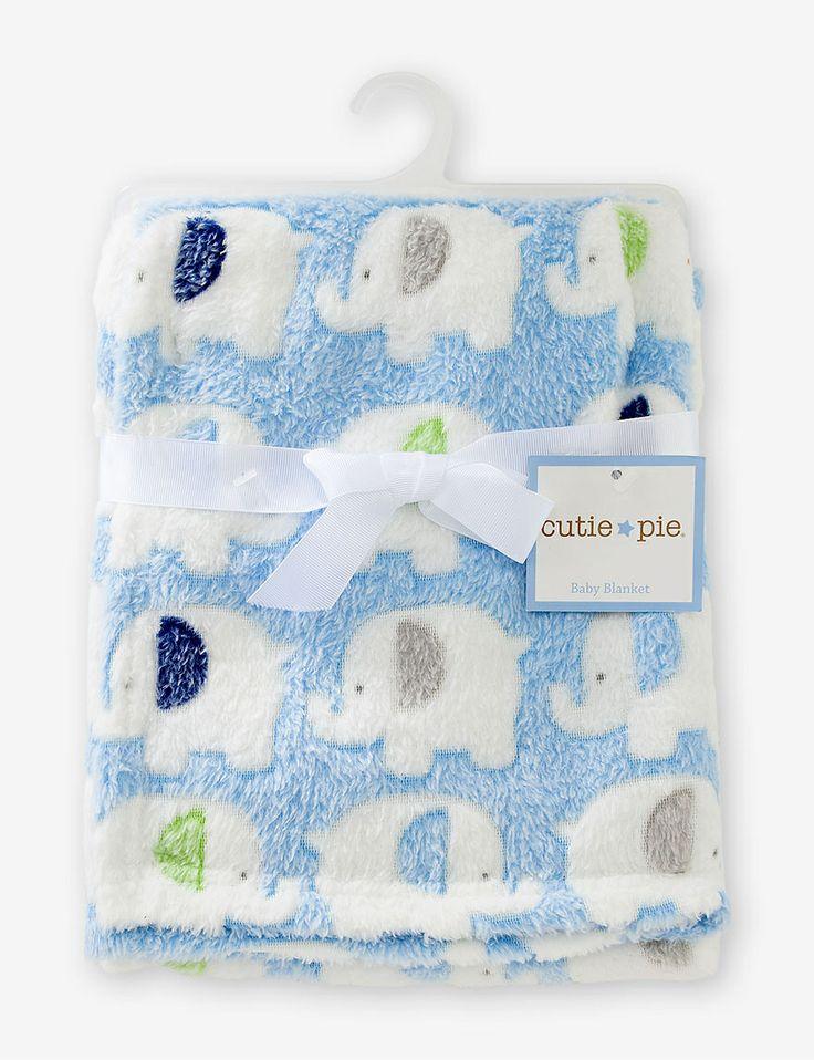 $8 - Cutie Pie Elephant Baby Blanket - Baby & Kids | Stage Stores