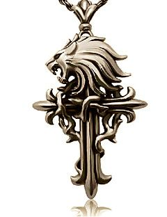 Cloud Strife lupo simbolo croce collana