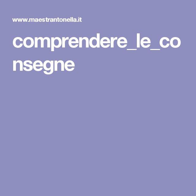 comprendere_le_consegne