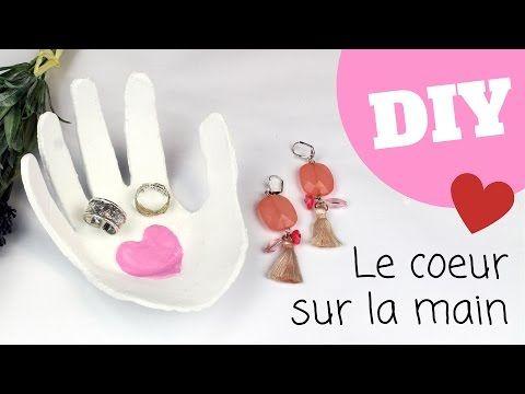 """Vide-poche """"Coeur sur la main"""" : Fête des Mères : """"Idées Créa"""" 10 DOIGTS : 10 Doigts"""