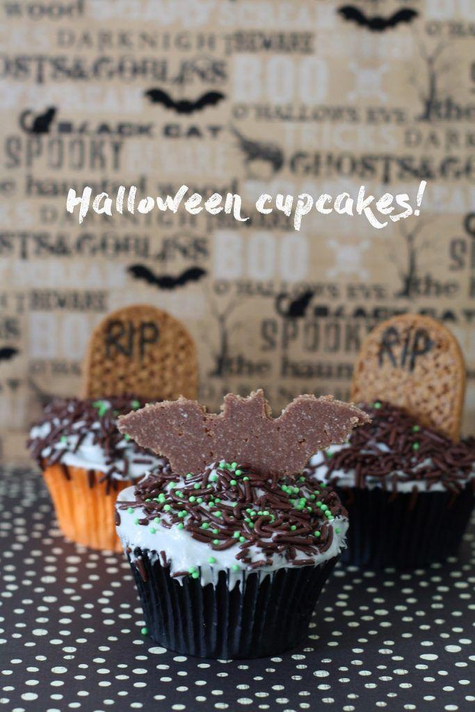 Recept Halloween cupcakes