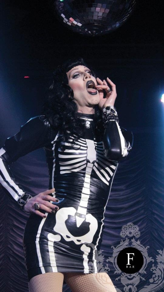sharon needles bone dress