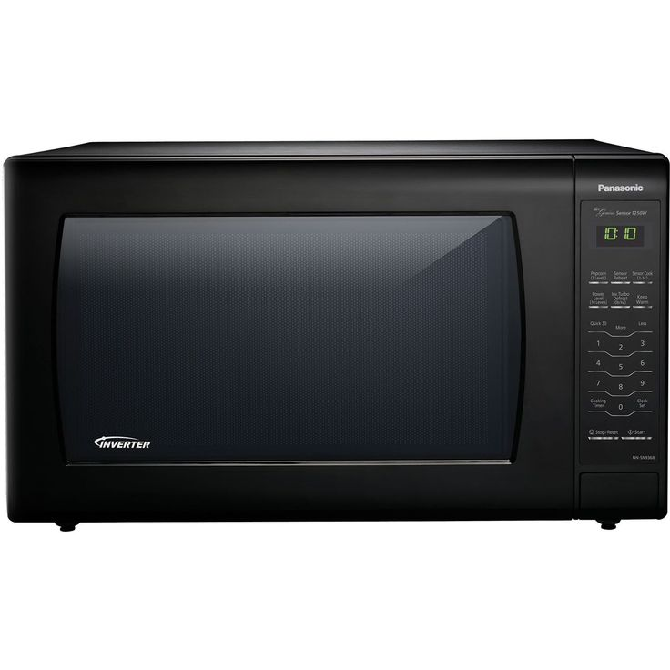 panasonic nnsn936b black 22cubicfoot 1250watt genius sensor countertop microwave oven with inverter technology black - Panasonic Microwave Inverter