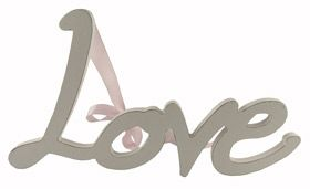 Gisela Graham Love painted wood word decoration - Another Gorgeous Day