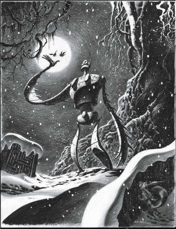 """Hommage au film: """"Le Château dans le Ciel"""" (Hayao Miyazaki - 1986) par Riff Reb's - Illustration"""