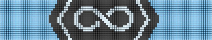 Eternity symbol pattern / chart for cross stitch, crochet, knitting, knotting, beading, weaving, pixel art, and other crafting projects