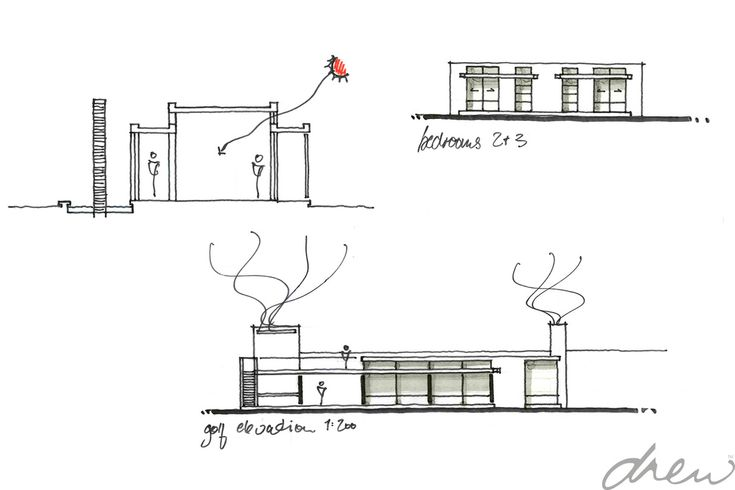 drew architects | spine wall house
