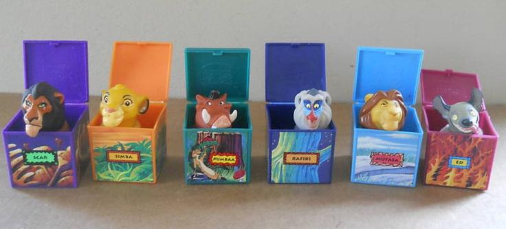 1995 Burger King's Kid's Meal Toys - Disney's Lion King Finger Puppets!