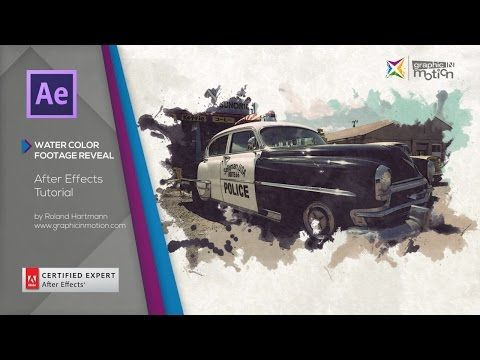 After Effects Tutorial - Watercolor Footage Reveal - YouTube