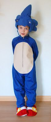 The Almost Perfectionist: Sonic the Hedgehog Halloween Costume diy