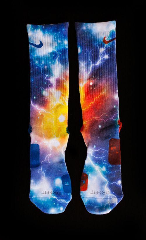 Thesockgame.com — KD Thunder Galaxies - Custom Nike Elite Socks