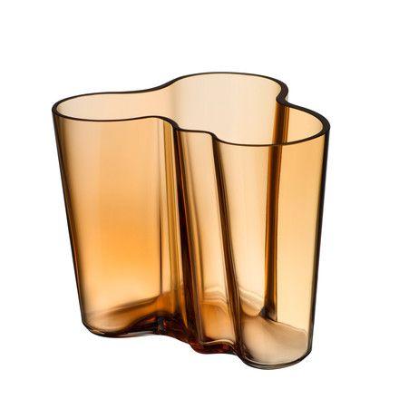 Iittala - Aalto Vase Savoy, desert 95 mm Transparent Braun T:9 H:9 B:11