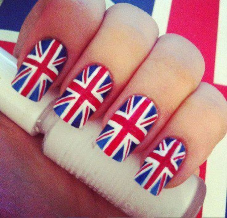 The 25 best british flag nails ideas on pinterest flag nails england england union jack nail art prinsesfo Image collections