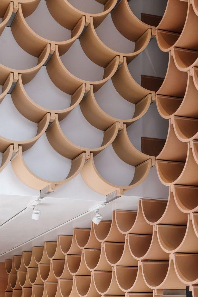 Gallery Of Camper Paseo De Gracia Kengo Kuma Associates 10 Kengo Kuma Futuristic Architecture Architecture Model