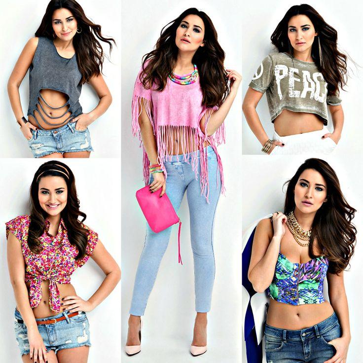 Crop bluzlar bu sezon sokak modasının öne çıkan parçalarından. Siz de bu modayı yakalamak istiyorsanız, BSL Fashion: Gizem Hatipoğlu kampanyamıza göz atabilirsiniz ;) #fashion #tshirt #girl #model #croptop #markafoni