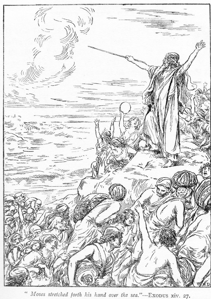 1065 best bible coloring pages images on pinterest bible for Crossing the red sea coloring page
