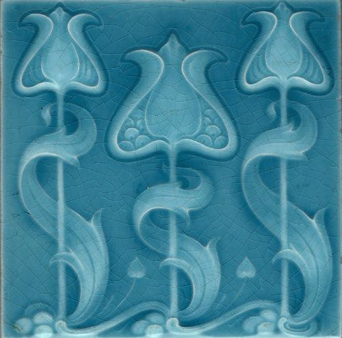 Art Nouveau Tile. Repinned by one of WorthPoint's favorite pinners!