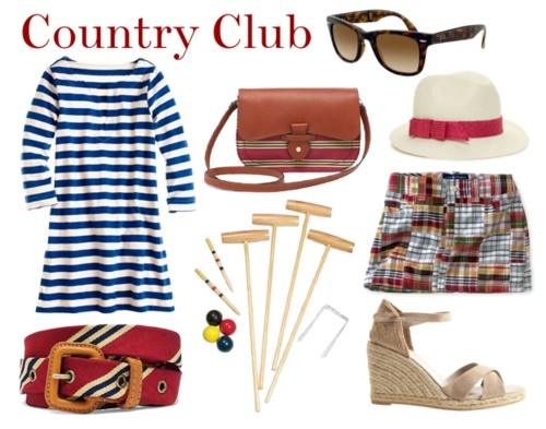 The Usg Country Club Attirelas Clubstriped Dresscasual