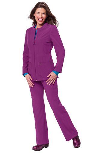 Koi Sapphire Deja Jacket Style 427 and Alicia Pant Style 715. www.ScrubAnnex.com