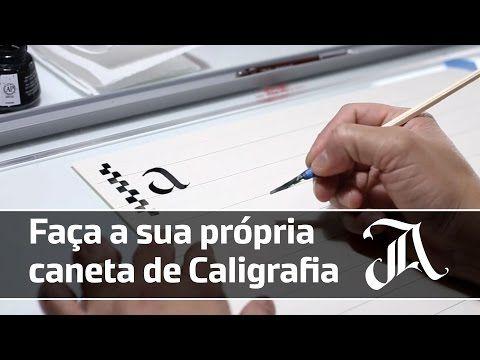 Como fazer uma caneta bico de pena caseira - YouTube