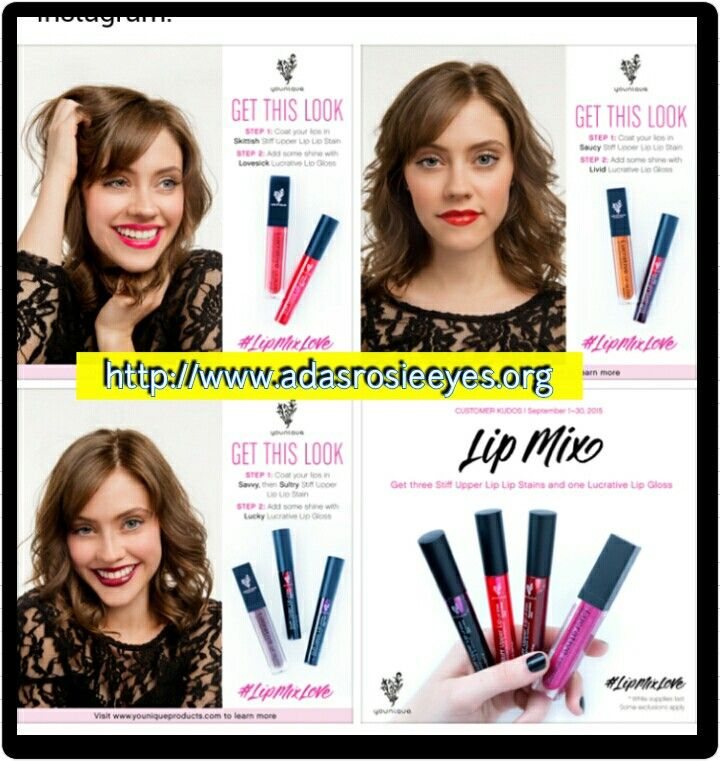 Create your Younique look with our September kudos!  Quality lipstick or lip gloss @  http://www.adasrosieeyes.org