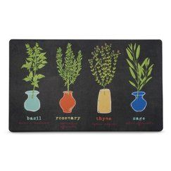 Multi Fresh Herbs Kitchen Comfort Floor Mat 18 MatKitchen DiningDining RoomApartment EssentialsFresh
