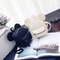 Wish   Mickey ear backpack for teenage girls small mouse girl back pack cute mini korea bagpack cartoon design backpacks
